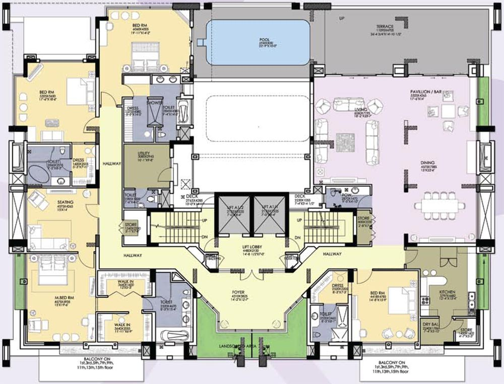 Hibiscus for Floor plans 9000 square feet
